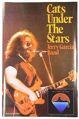 orig JERRY GARCIA BAND (Grateful Dead) Cats Under The Stars promo poster EX 1978