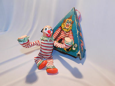 Antique Rare Vintage Wind Up TUMBLING Somersault Clown Japan Toy IN original BOX