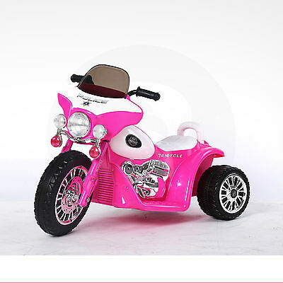 Kids police bike 6v Ride On 3 Wheel Trike Battery powered Tricycle Motorbike Car