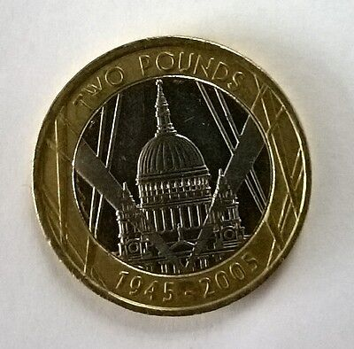 £2 Two Pound Coin 2005 - 60th Anniversary Coin St Paul's Cathedral - CIRCULATED