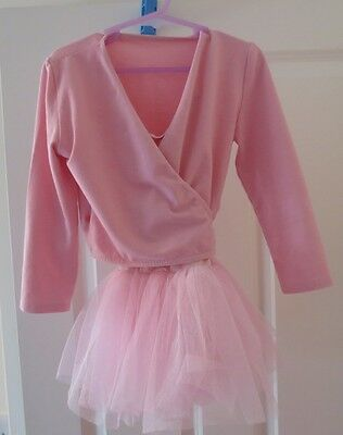 Girls 2 part pink ballet outfit size 1 and size A
