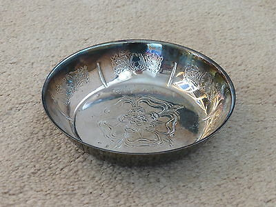 VINTAGE QUALITY SILVER PLATED (ON BRASS) TUDOR ROSE SWEET DISH MADE by CAVALIER