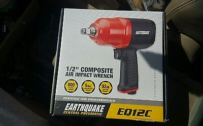Earthquake EQ12C 1/2 in Drive Air Impact Impact Wrench Gun 800 ft lbs of Torque
