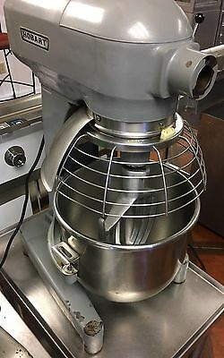 Hobart 20QT Mixer A200 W/ Cage, Two Attachments, & Custom Stainless Steel Table