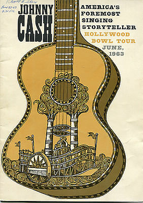 1963 Johnny Cash concert program Hollywood Bowl