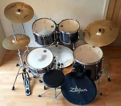Tama Superstar Drum Kit with additions