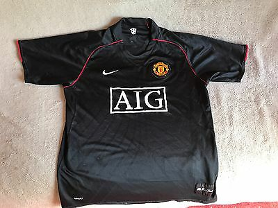 Large Manchester United 2007/2008 away shirt