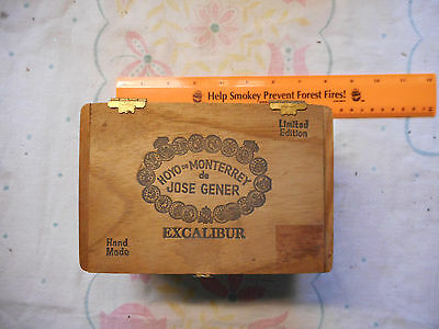 7x5x4 hand made Excalibur hinged wooden box limited edition