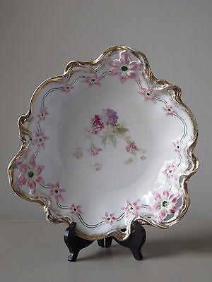 """Antique CT Carl Tielsch Germany Large Reticulated Porcelain Centerpiece Bowl 12"""""""