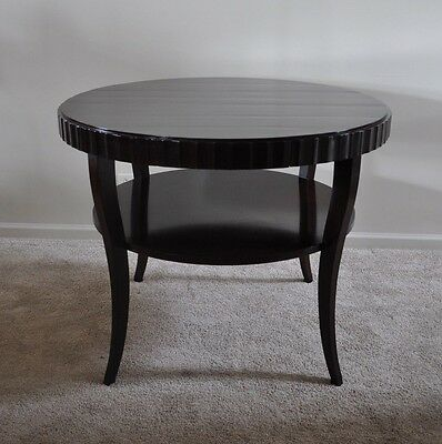 Barbara Barry for Baker Large Side/Foyer Table Round Java Finish