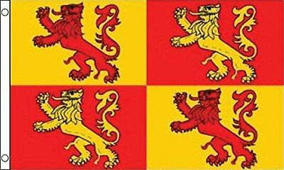 Owain Glyndwr Flag 5ft x 3ft Large 100% Polyester Metal Eyelets Double Stitched