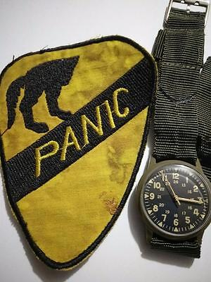 Vintage Vietnam Plastic Watch Free Shipping Military issue Wind up Rare Patch VN