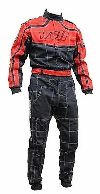 Wulfsport Red and Black fireproof overalls ORCI Spec Oval racing,