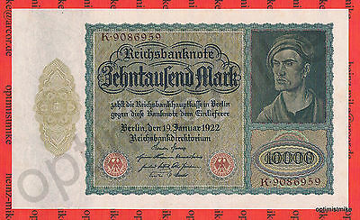 10 000 Mark UNC Ros.68b Pick 71 Germany Inflation