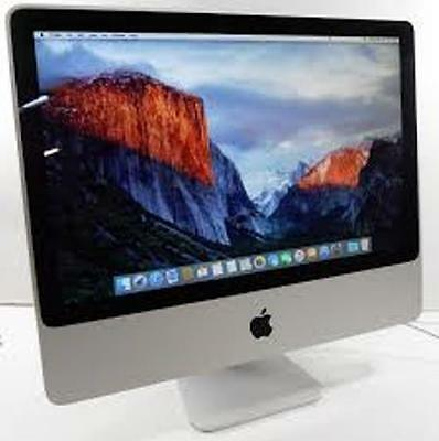 "24"" A1225 Apple iMac Core 2 Duo 2.66GHz 4GB RAM 640GB El.capitan MS Office 2008"