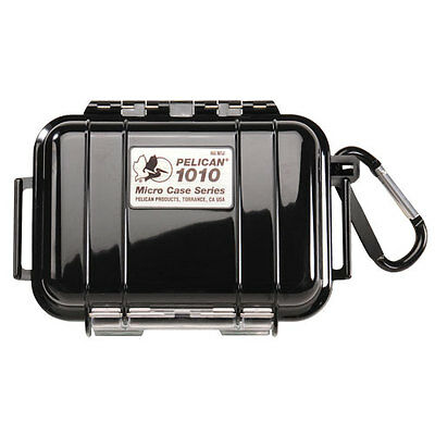 Pelican 1010-BLACK Black Miniature Case (Clear with Black Liner)
