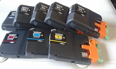8 Used & Empty Brother Ganuine Lc121 Ink Cartridges