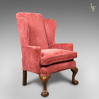 Antique Wing Back Armchair, Edwardian Arm Chair, c.1910