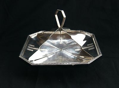 Vintage Walker & Hall Silver Plated Cake / Sandwich Stand Platter Tray