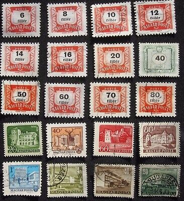 20  Hungary  Stamps  From  Old  Album