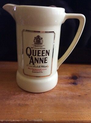 Vintage Black Queen Anne Rare Scotch Whiskey Jug/Pitcher by Wade, England Black