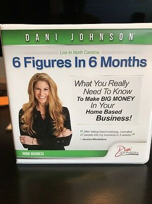 Dani Johnson 6 FIGURES IN 6 MONTHS Business Sales Marketing Pro Tips CDs