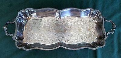 Continental Silver Co. Footed and Handled Serving Tray 1100 JY