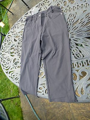 "A Pair Of Ladies Glenmuir Cut Off Black Trousers Size 10 30""waist"