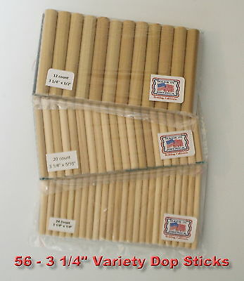 56 Dop Sticks Sm.Med.Lg. cabs lapidary tool Made in U.S.A. to use with Dop Wax
