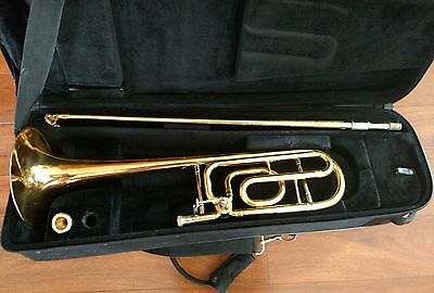 Conn Limited Edition Gold Lacquered Trigger Trombone with Gold Plated Conn Mpc