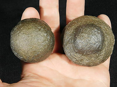 A BIG! Pair of Moqui Marbles or Shaman Stones from Southern Utah! 205.6gr e