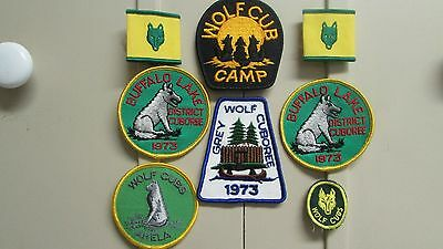 Collection of Wolf Cub Patches & Slides