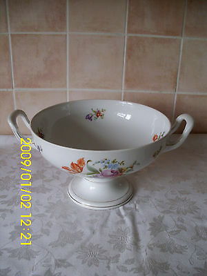 Large Rosenthal Josphine Floral Pattern Twin Handled Table Fruit Bowl