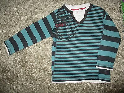 Boys Green and Black Stripe **Pumpkin Patch** Warrm Jumper Size 4