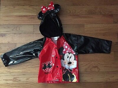 Girls Disney Minnie Mouse 2t Rain Coat