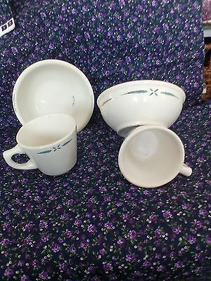 vintage walker china vitrified bedford ohio