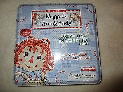 Classic Raggedy Ann & Andy Great Day In The Park Game in Tin New