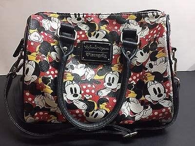 Minnie Mouse Duffle Crossbody Bag by Loungefly Satchel Purse Imperfect