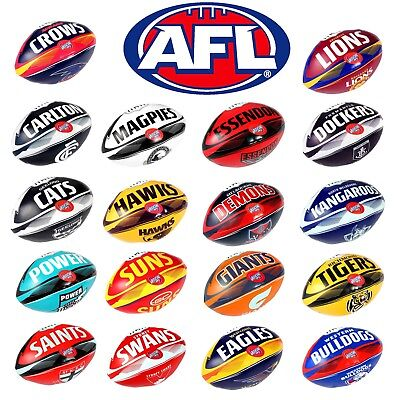 "Official AFL Footy Team Baby Toddler 6"" PVC Soft Touch Ball"