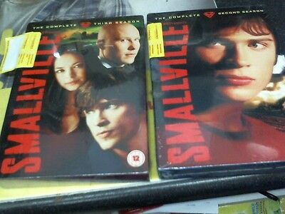 "Smallville The complete 2nd and 3rd season "" and still sealed"" on DVD"
