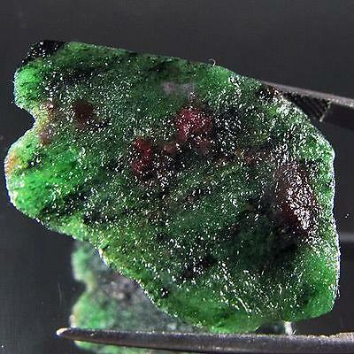 34.65 Ct  Beautiful UnHeated Natural Rough Red Green Ruby Zoizite Madagascar