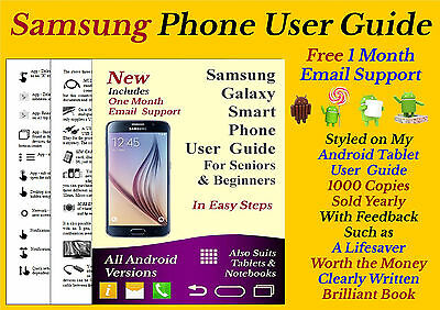 Samsung  S7 S6 S5 Smart phone, Note 4 & Note Edge Beginners User Guide