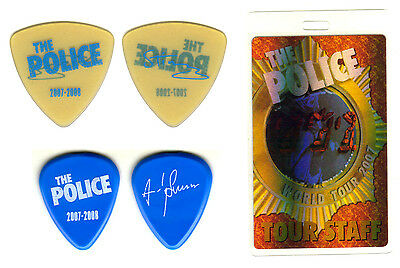 Guitar Pick - The Police - Sting & Andy Summers-Real Tour Picks & Backstage Pass