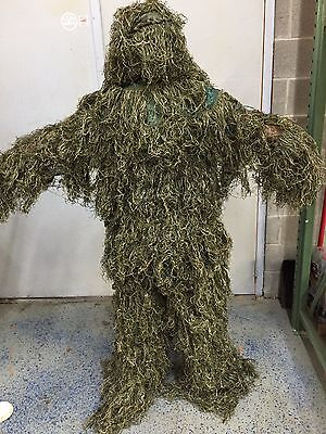 Military Stalker Ghillie Suite Full Set - Woodland - Top, Pants, Head Covering