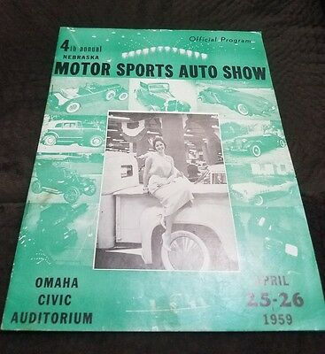 15th Annual 1970 Nebraska Motor Sports Auto Show program