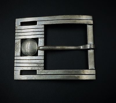 Vintage Designer William Spratling Sterling Silver Taxco Belt Buckle 55g M417