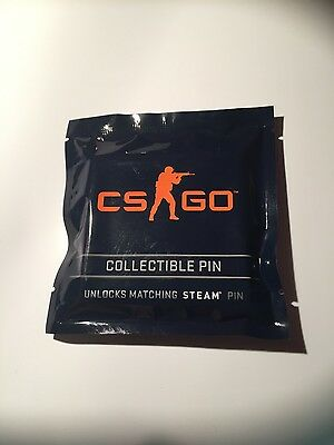 COUNTER STRIKE GLOBAL OFFENSIVE - CS:GO Collectible Pin, unopened Pin, Steam Pin