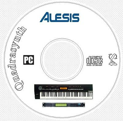 Alesis QuadraSynth + S4 Sound Patch Library, Manual, MIDI Software & Editors CD