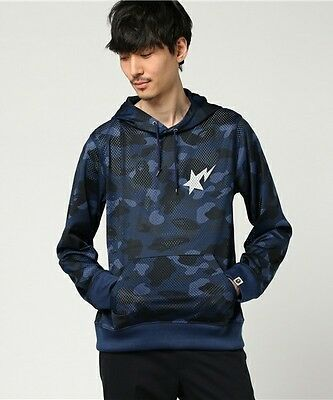 A BATHING APE Men's COLOR CAMO MESH PULLOVER HOODIE New