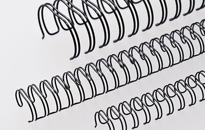 Renz One Pitch Wire Binding Elements 2:1 23 Loops, Diameter 16.0 mm BLACK
